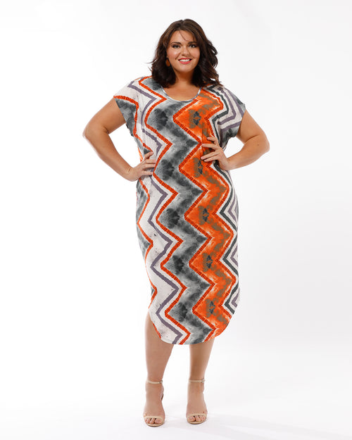 Gemma Curve Hem Dress - LAST ONE SIZE 26