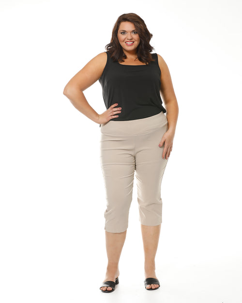 Grace Crop Sand Super Stretch Pants - Size 12-26