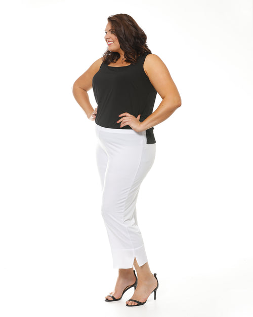 Crop Ayva Chiffon Pants -White size 14,22,24