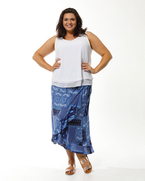 RTM Skirt, Room To Move, blue skirt plus size