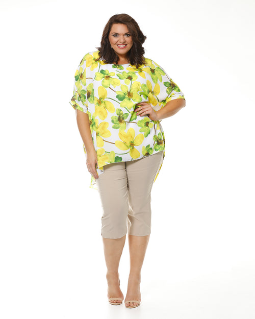 Cathy Printed Chiffon Top With Bamboo Lining