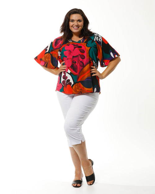 Bold Colourful Top - LAST SIZE - SIZE 20, 22,26