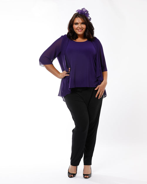 Linda 2 In 1 Tunic - Purple Last size 20