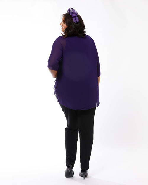 Linda 2 In 1 Tunic - Purple Size 14 -26