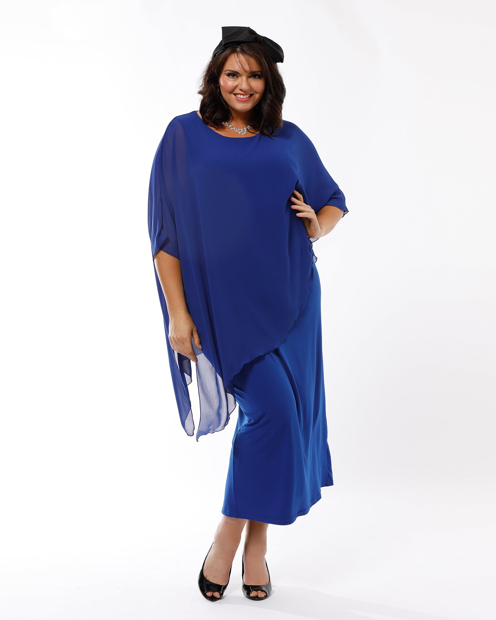 Plus size evening dress, Occasion dresses, Plus size formal dresses, RTM, Blue Evening Dress