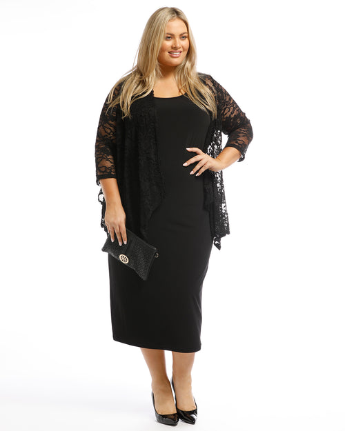 Nicole Lace Shrug-Black Last size 14-ONLY $9.95