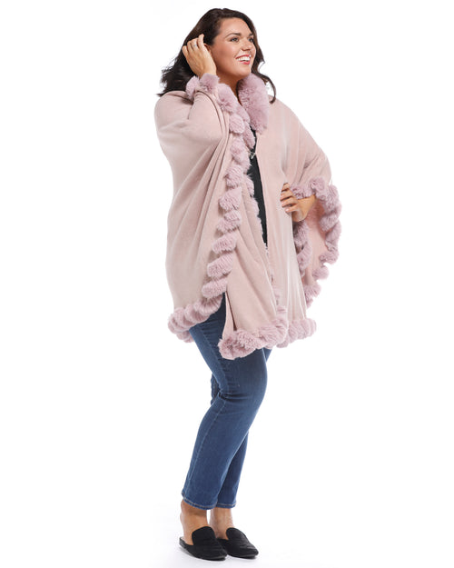 Luxurious Super Soft Cover Up Fur Trim - Pink Back Order 13th Jan