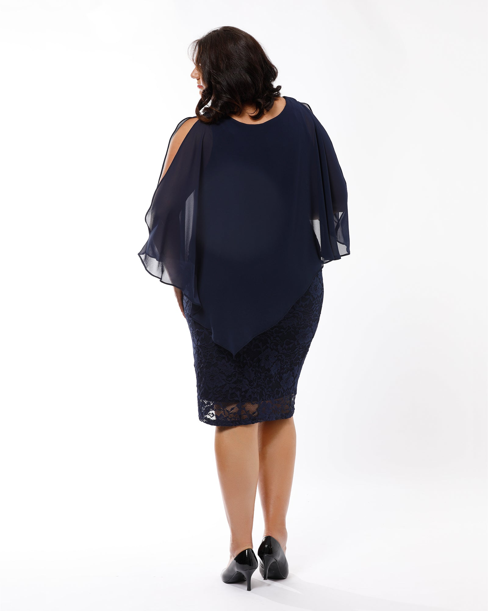 Julie Lace Dress -Navy