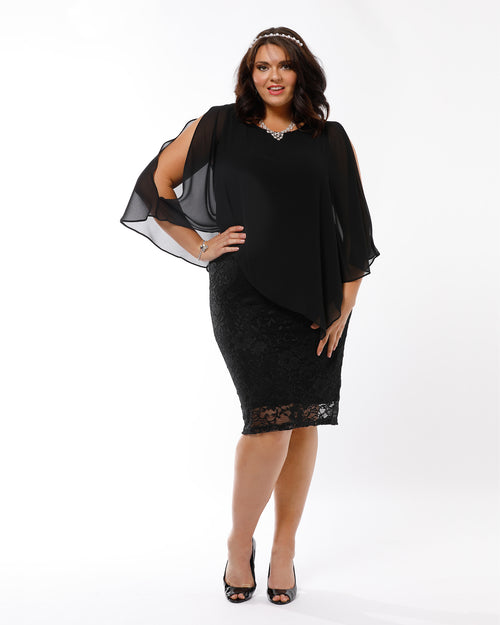 Michelle Lace Dress - Black  last size 12