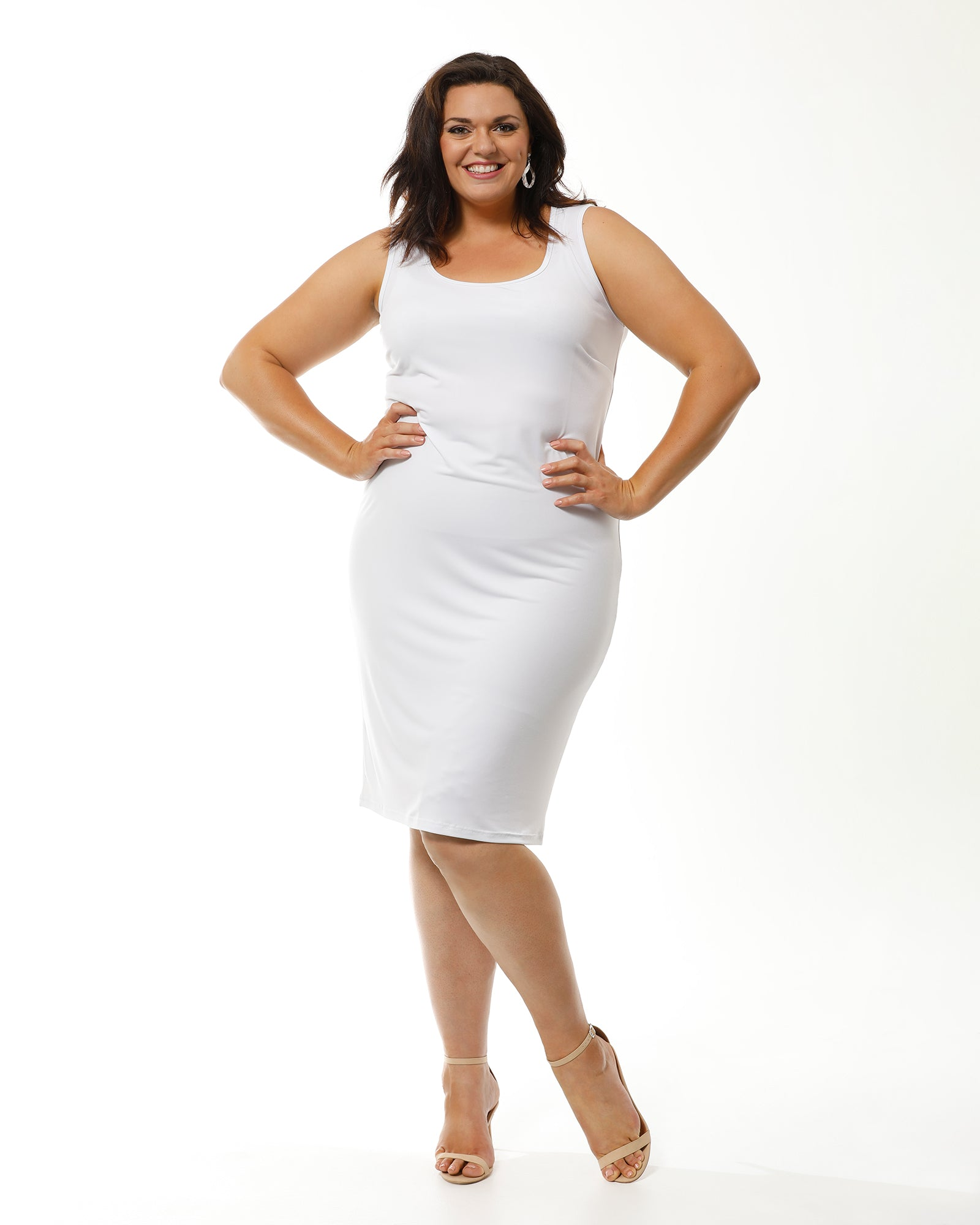 Meryl Dress - White size16-24