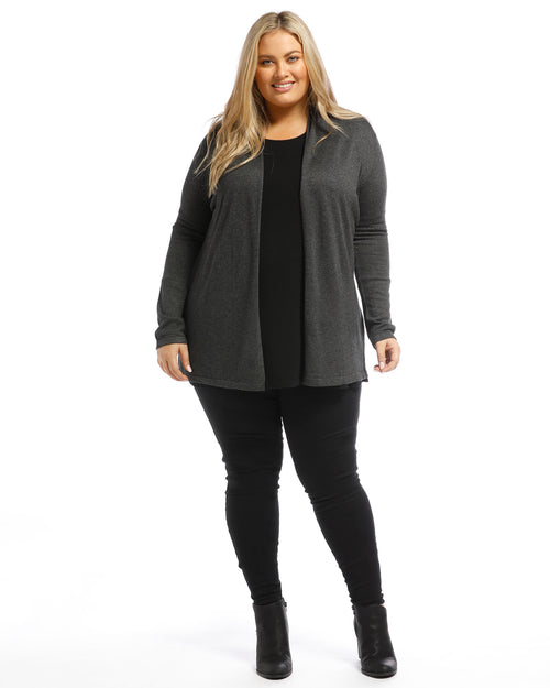 Bamboo Duster Jacket - Charcoal