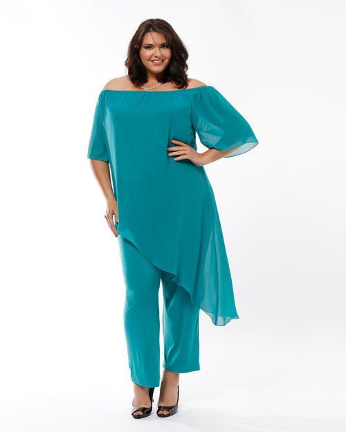 Naomi Jumpsuit - Teal 18 & 26 ONLY
