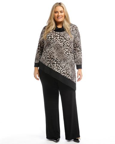 Marie Zip Front Ribbed Cardigan LAST SIZES 18, 20 & 22