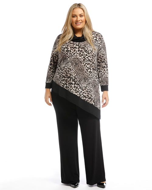 Jasmin Soft Knit Pants - Black no size 12