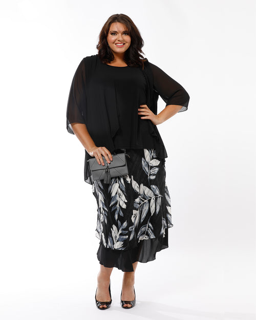 Mandy Skirt and Julie 2 in 1 In Black - SAVE $10