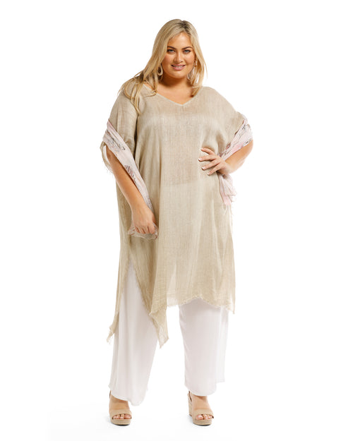 Metallic Kaftan -Long - Sand