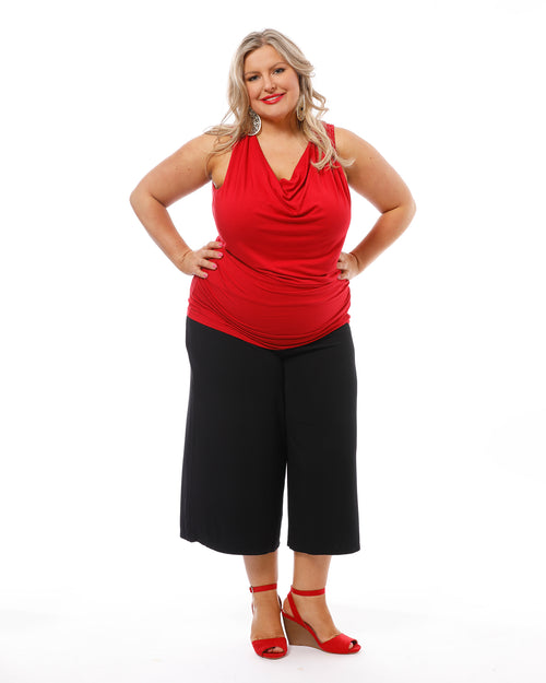 Bamboo Culottes- Black- Up to 4XL - Size 22-24