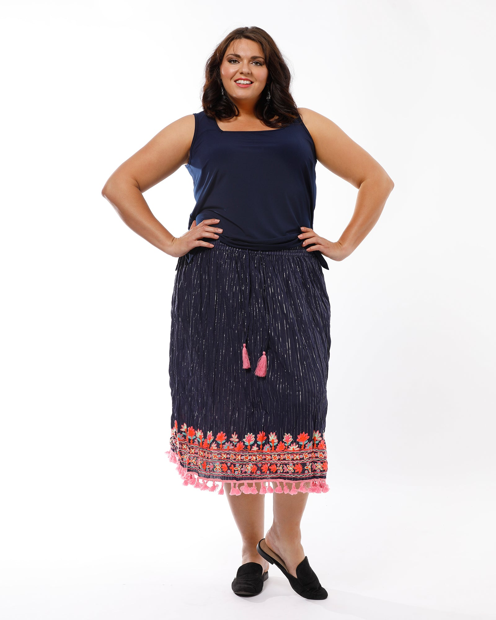 Bipa Skirt - Navy LAST ONES SIZE 16 and 20