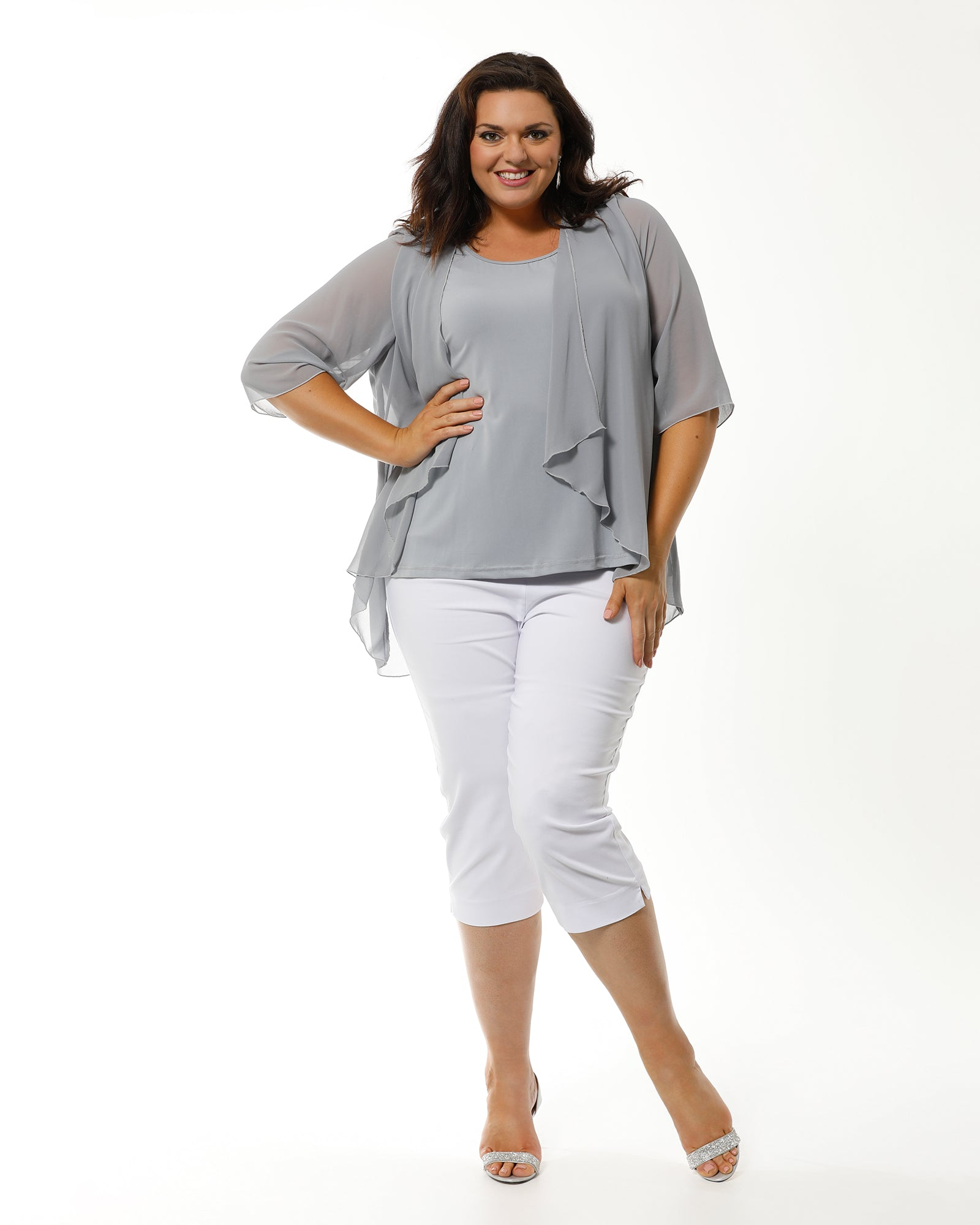 Linda 2 In 1 Tunic - Silver Grey LAST SIZE 12,16