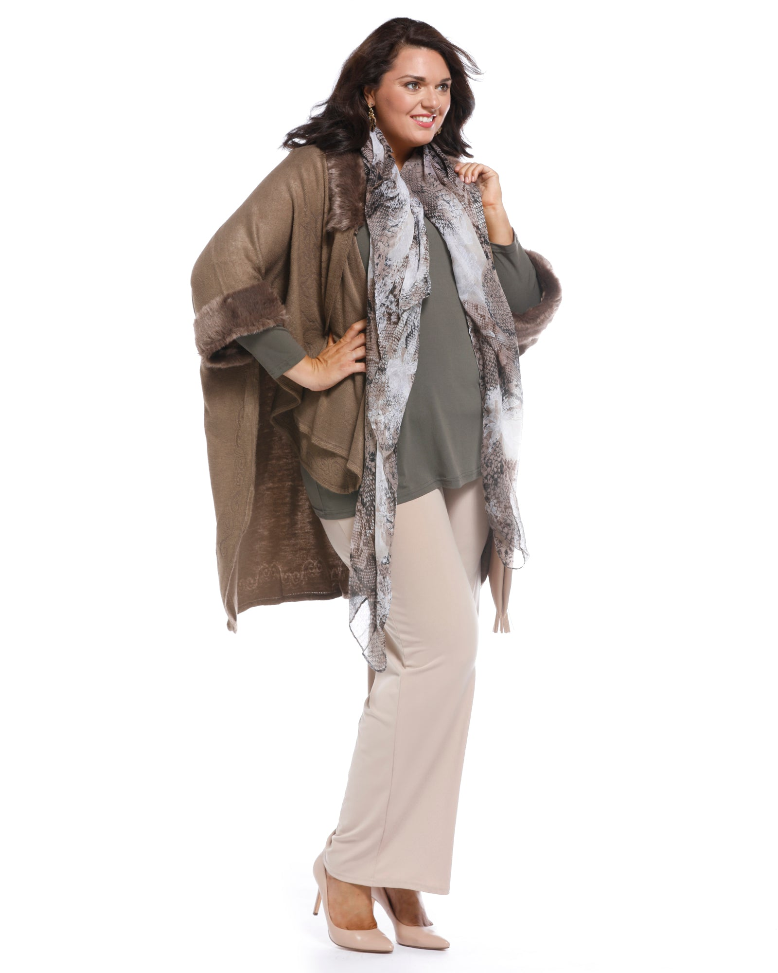 Plus size clothing, plus size cover up, plus size poncho