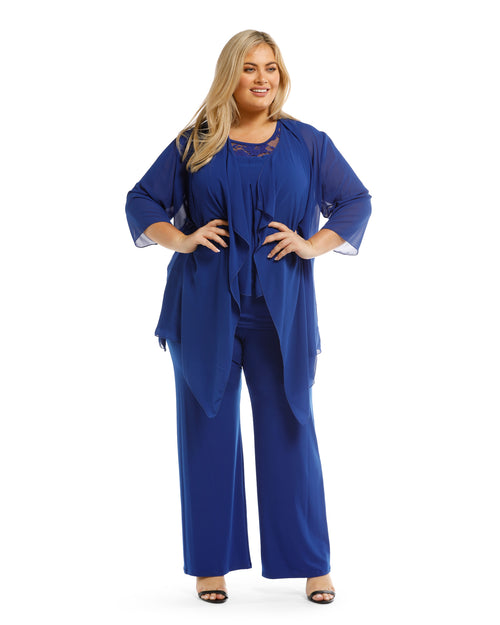Chiffon Cover up - Cobalt