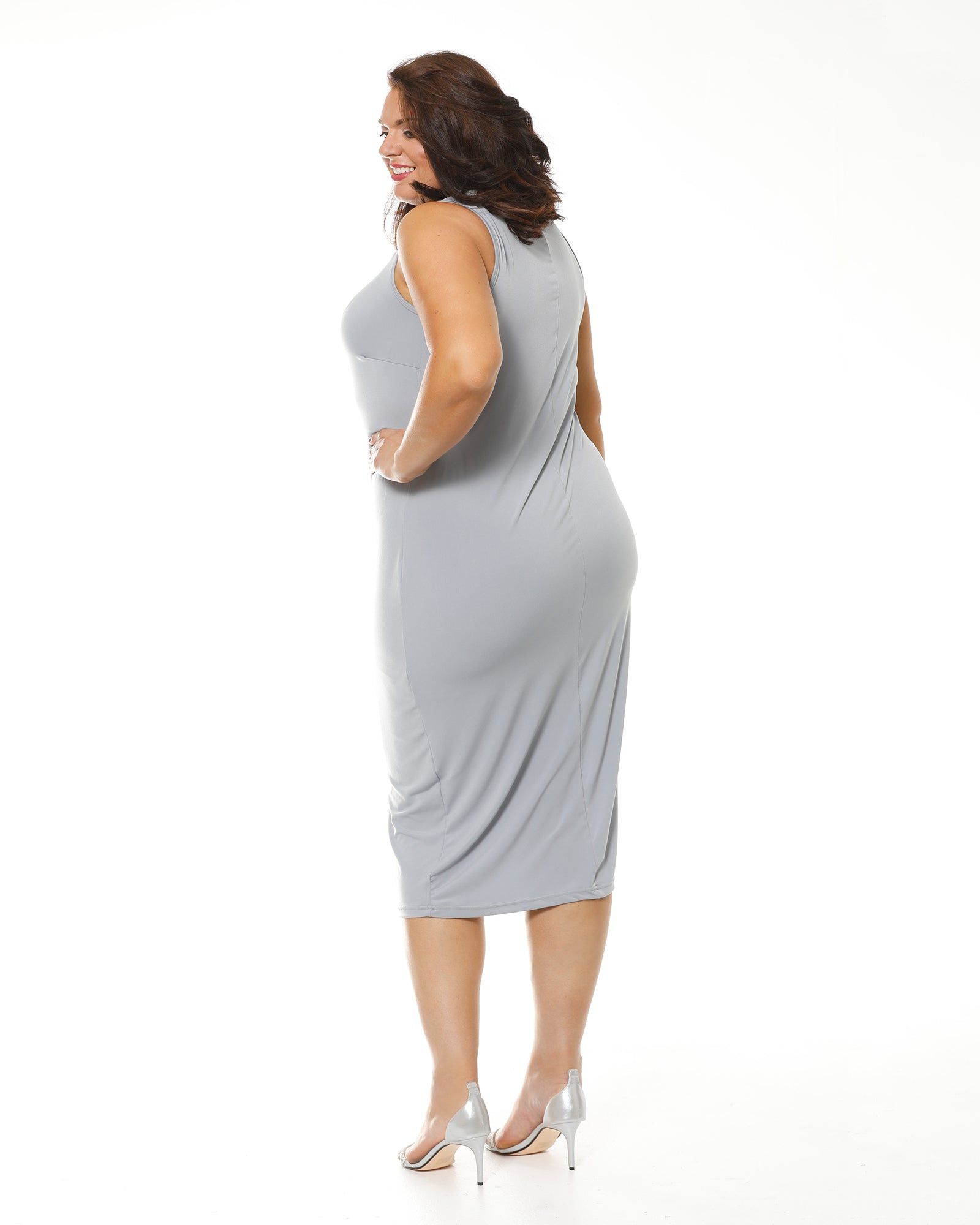 Roxanne Maxi Dress - Silver sizes 14 only