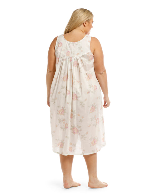 100% Cotton Sleeveless Nightie - Floral