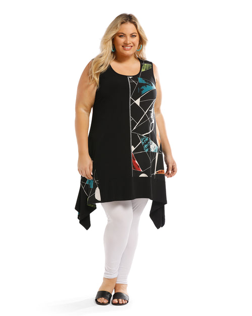 Stella Two Tone Tunic Top