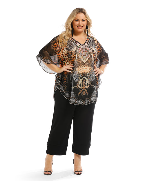 Animal Kaftan Top