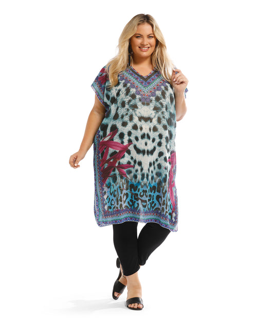 Animal Mid Length Kaftan