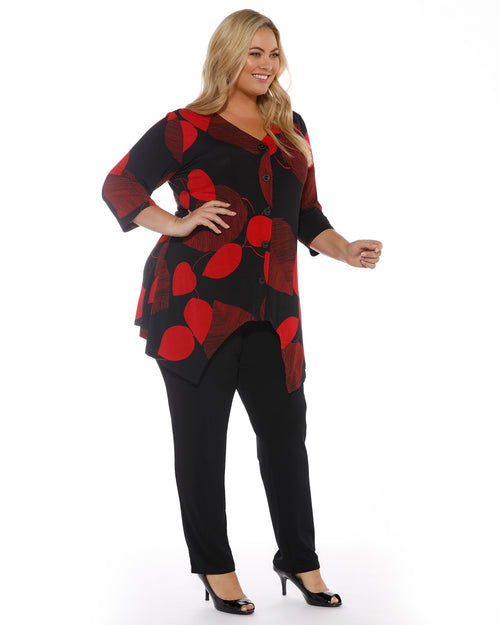 Red & Black Print Top LAST SIZE 16