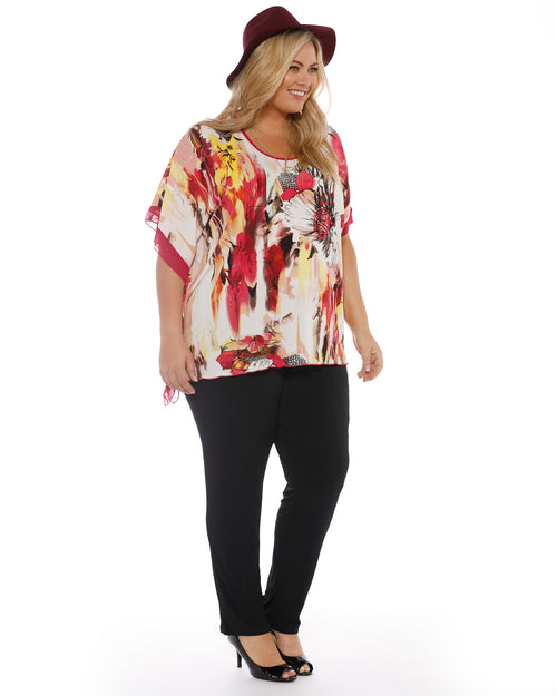 Sophia One sided Kaftan Top