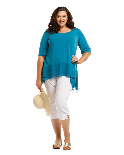 Vivian Tunic - Teal Size 22 Only