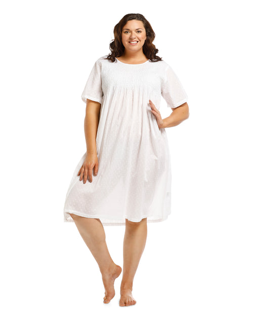 White Cap Sleeve Nightie