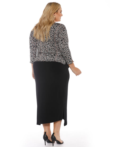 Step Hem Skirt - Black last size 20