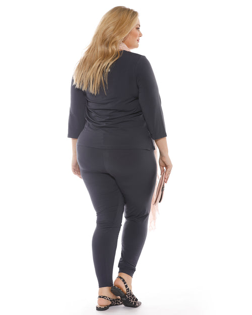 Full Length Legging-Charcoal