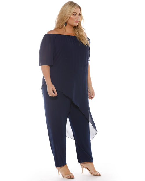 Naomi Jumpsuit - Navy PRE ORDER END MARCH SIZE 18-26