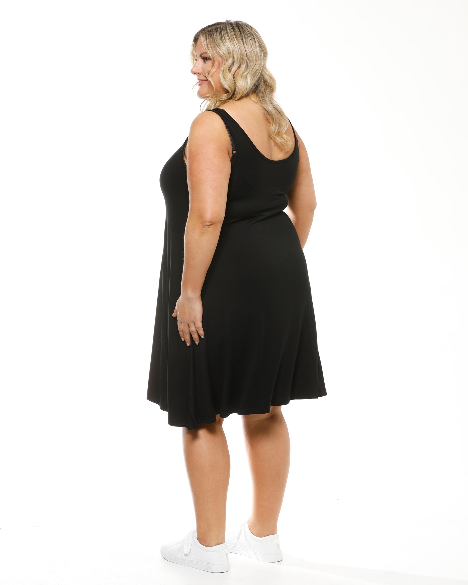 Bamboo Swing Dress - Black