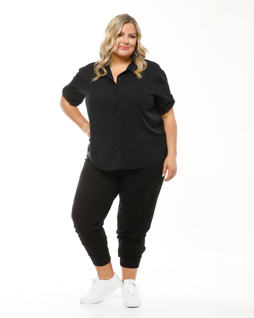 Bamboo Softline Slouch Pant - Black Size 10-24