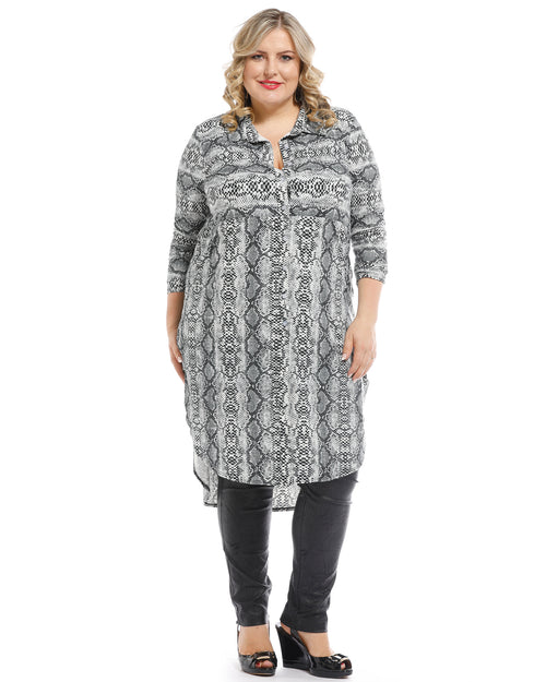 Animal Winter Dress - Silver