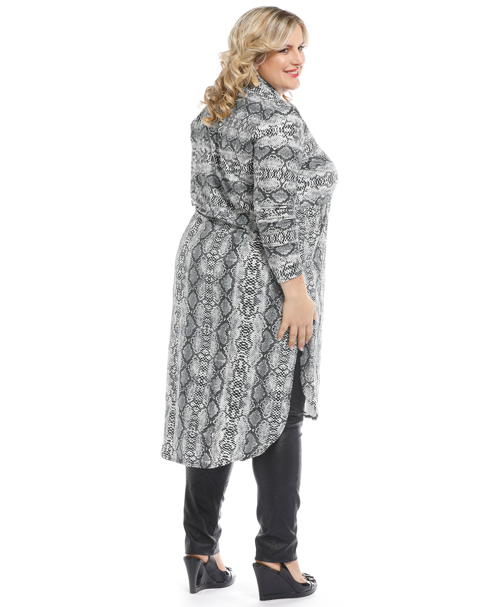 Animal Winter Dress - Silver- Size 18, 20 & 24 ONLY