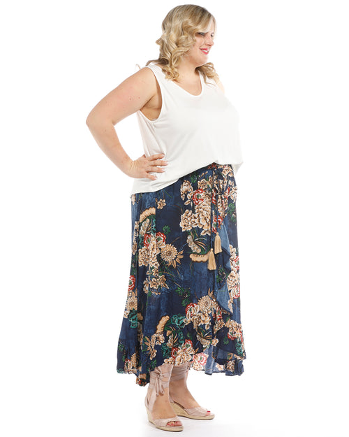 Toffee Skirt Ashbury Print