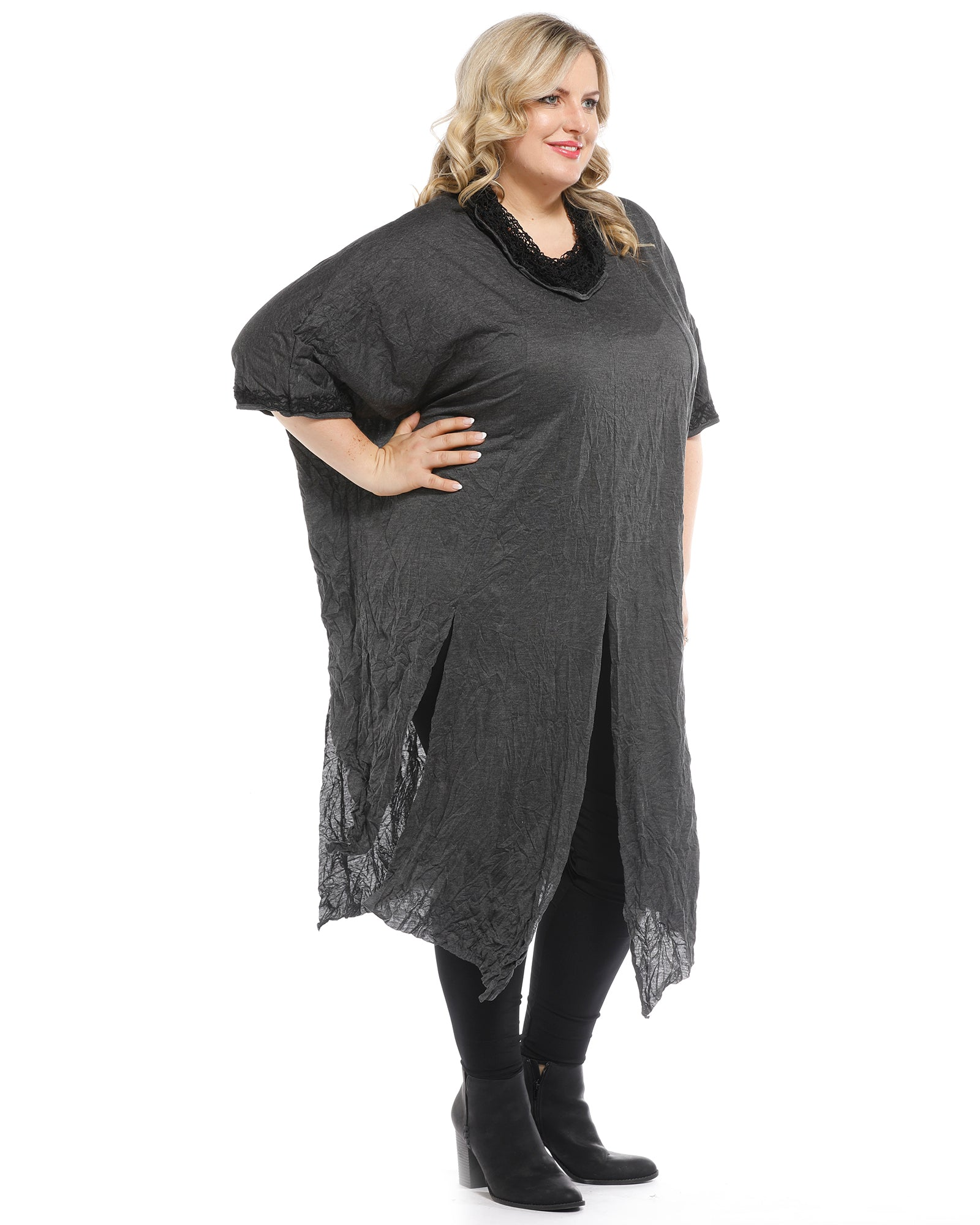 Charcoal Tunic Top - Last Sizes  18 & 22