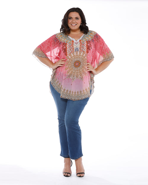 Pink Star Beaded Top