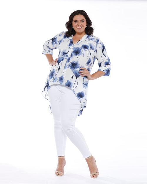 RTM, Room To Move, Plus size blouse, Plus size top, Floral