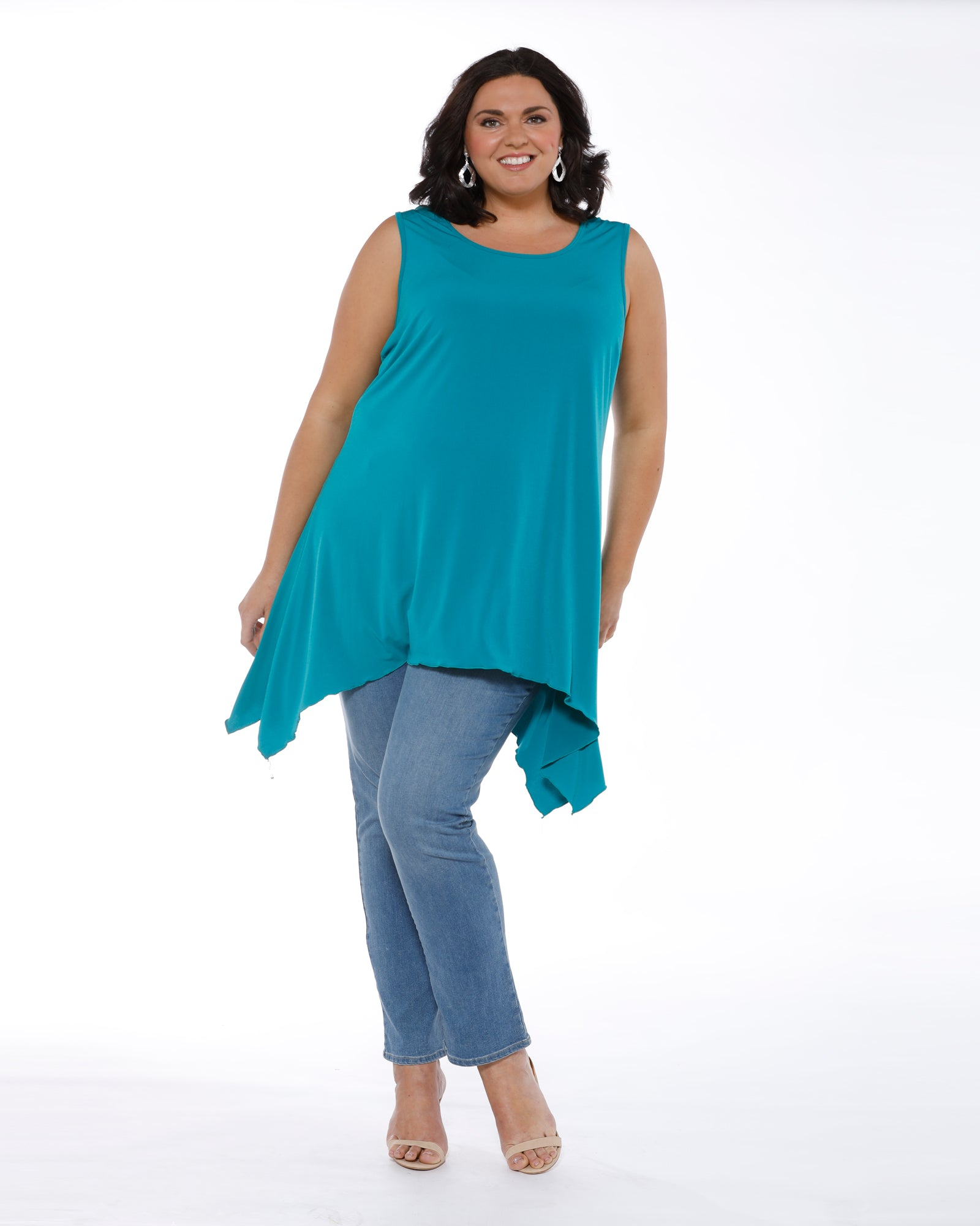 Soft Knit Tunic - Teal Size 14 only