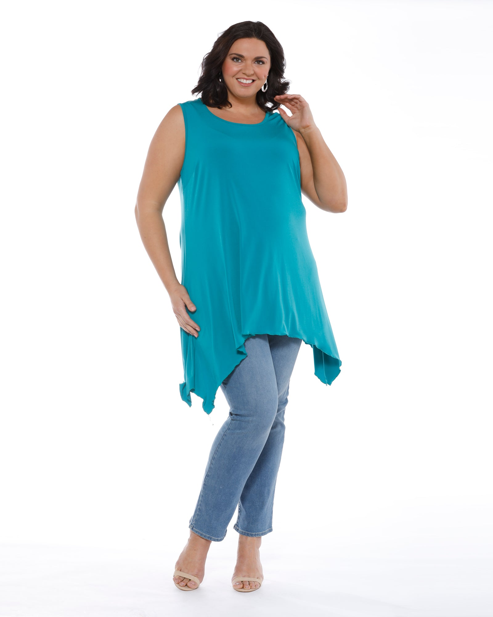 Soft Knit Tunic - Teal Size 14, 16 & 24 Left