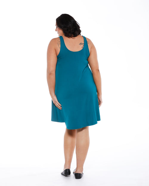 Bamboo Swing Dress - Teal