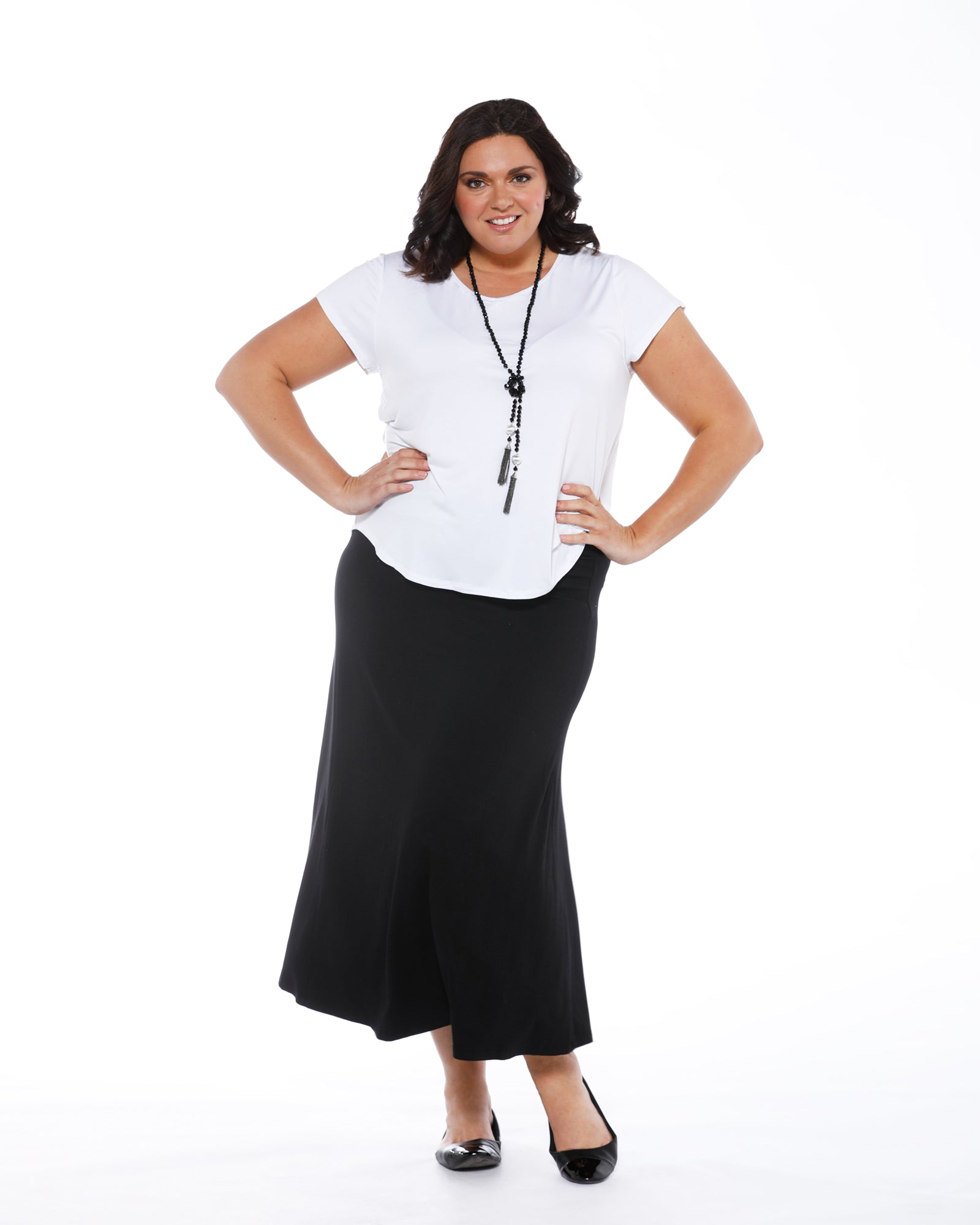 Long Bamboo Skirt - Black