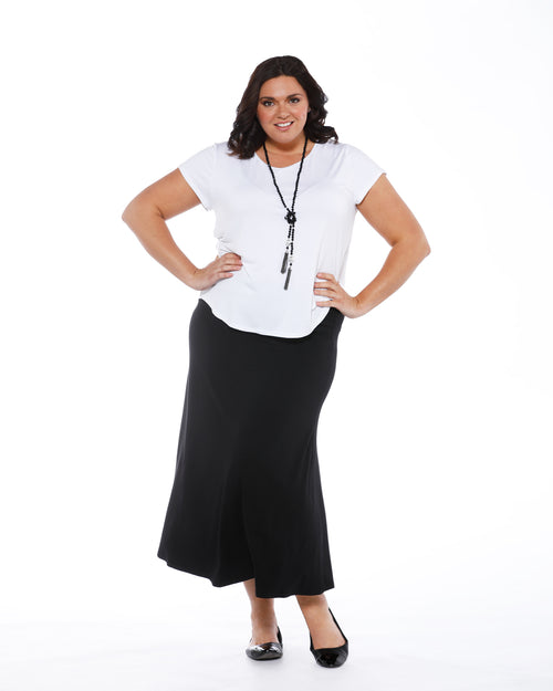 Lana Long Bamboo Skirt - Black Size 10-24